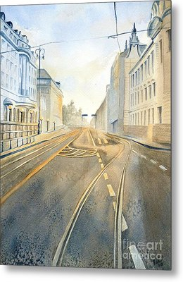 Metal Print featuring the painting The Streets Of Zagreb  by Eleonora Perlic
