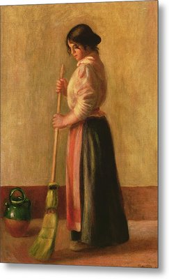 The Sweeper Metal Print by Pierre Auguste Renoir