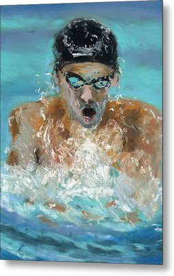 The Swimmer Metal Print by Paul Mitchell
