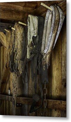 The Tack Room Wall Metal Print by Lynn Palmer