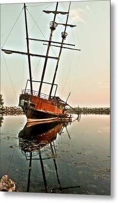 Metal Print featuring the photograph The Tall Shipwreck by Nick Mares