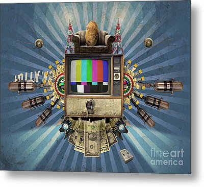 The Television Will Not Be Revolutionised Metal Print by Rob Snow