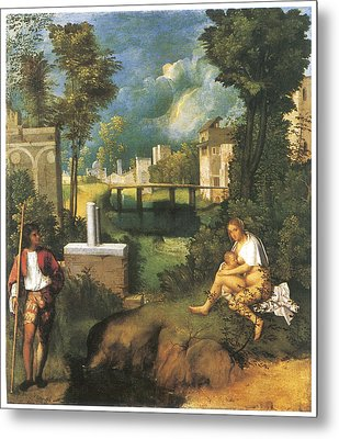 The Tempest Metal Print by Giorgione