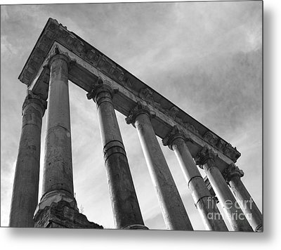 The Temple Of Saturn Metal Print by Chris Hill