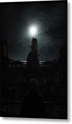 The Tenebrous Sprawl Metal Print by Martin Bland
