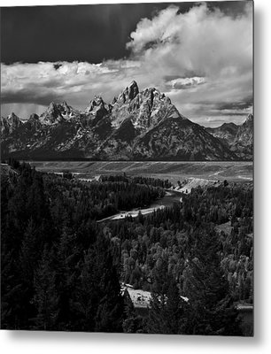 The Tetons - Il Bw Metal Print