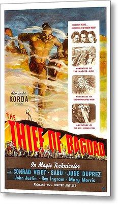 The Thief Of Bagdad, Rex Ingram, 1940 Metal Print by Everett