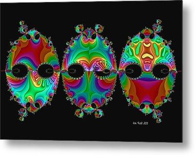 Metal Print featuring the digital art The Three Amigos by Kim Redd