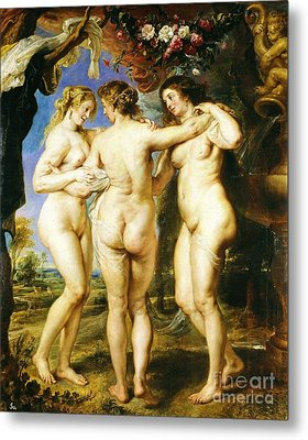 The Three Graces Metal Print by Pg Reproductions