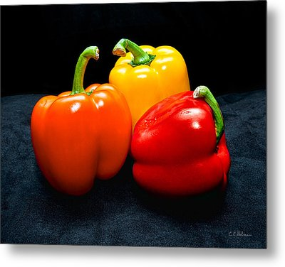 The Three Peppers Metal Print by Christopher Holmes