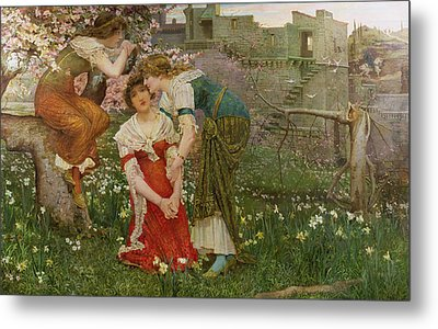 The Three Princesses Metal Print by Edward Matthew Hale