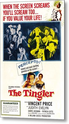 The Tingler, Bottom Vincent Price Metal Print by Everett