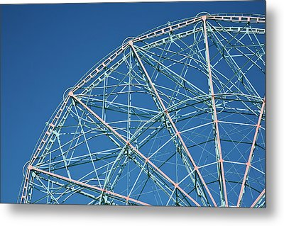 The Top Of A Ferris Wheel, Low Angle View Metal Print by Frederick Bass
