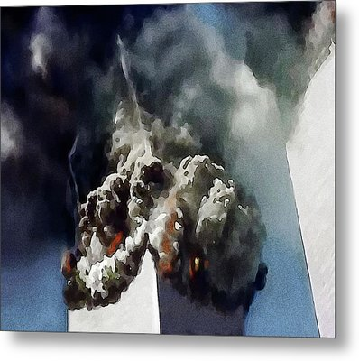 The Towers Collapse Metal Print by Jann Paxton