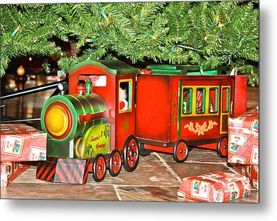 Metal Print featuring the photograph The Toy Train by Ann Murphy