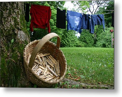 The Traditional Approach To Washday Metal Print by Stephen St. John