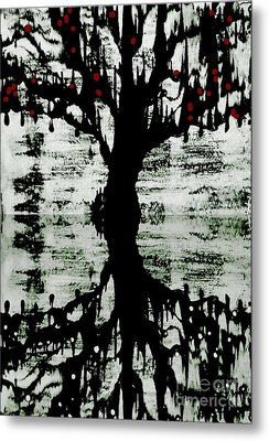 Metal Print featuring the painting The Tree The Root by Amy Sorrell
