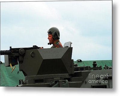 The Turret Of A Pandur Wheeled Armoured Metal Print by Luc De Jaeger