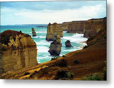 Metal Print featuring the photograph The Twelve Apostles - Lost Apostle by Dennis Lundell