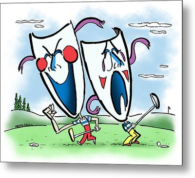 The Two Faces Of Golf Metal Print by Mark Armstrong