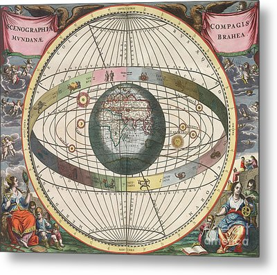 The Universe Of Brahe Harmonia Metal Print by Science Source