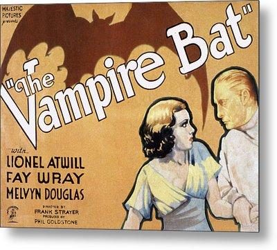 The Vampire Bat, Fay Wray, Lionel Metal Print