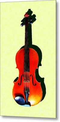 The Violin . Light Version . Painterly Metal Print by Wingsdomain Art and Photography