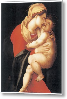 The Virgin And Child Metal Print by Jacopo Da Pontormo