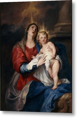 The Virgin And Child Metal Print by Sir Anthony Van Dyck