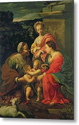 The Virgin And Child With Saints Metal Print by Simon Vouet