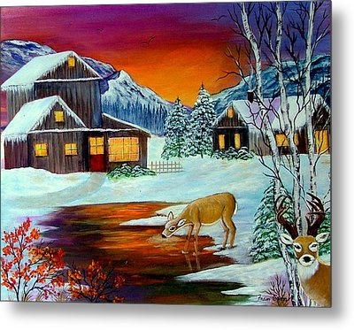 The Visitors Metal Print by Fram Cama