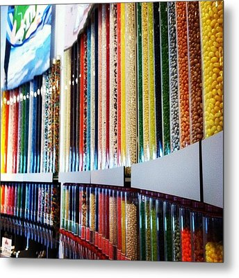 The Wall Of Candy Metal Print by Lea Ward