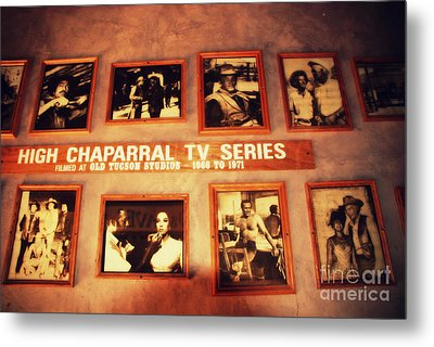 The Wall Of Fame In Old Tuscon Az Metal Print by Susanne Van Hulst