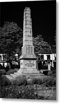 The War Memorial Newtownards County Down Northern Ireland Metal Print by Joe Fox