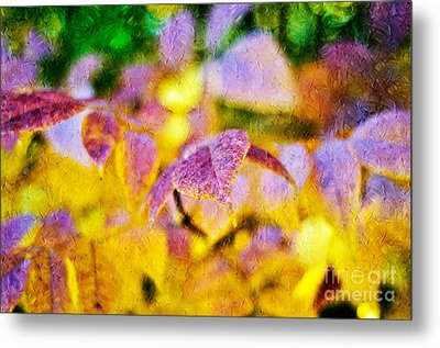 The Warmth Of Autumn Glow Abstract Metal Print by Andee Design
