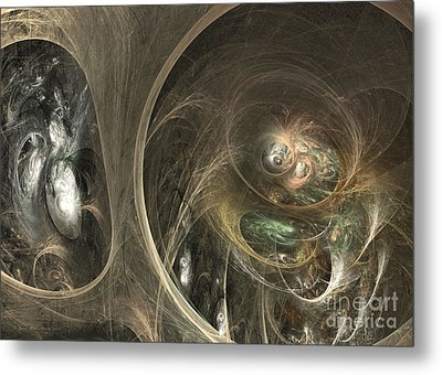 The Watcher Of Two Worlds Metal Print by Sipo Liimatainen