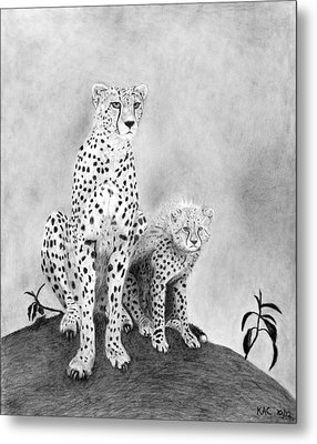 The Watchers Metal Print by Kenny Chaffin