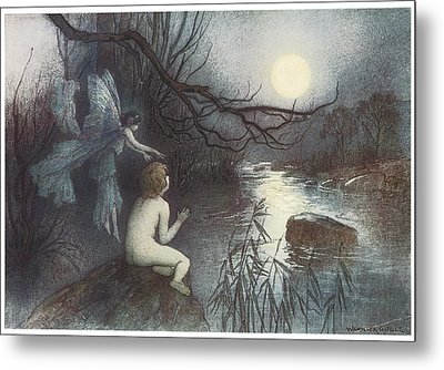 The Water Babies Metal Print by Warwick Goble