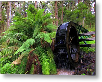 The Water Wheel Metal Print
