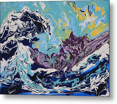 The Wave After Hokusai Metal Print by Art Enrico