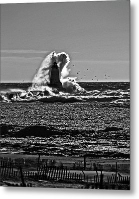 The Wave Metal Print by Randall  Cogle