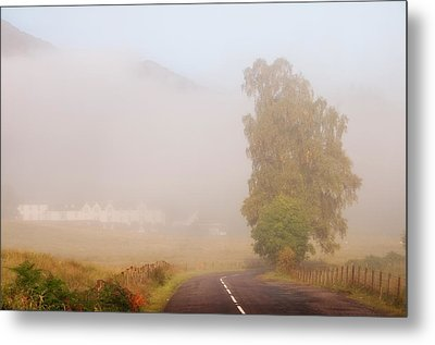 The Way To Never Never Land. Misty Roads Of Scotland Metal Print by Jenny Rainbow