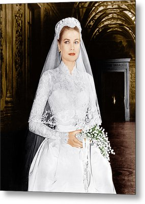 The Wedding In Monaco, Grace Kelly, 1956 Metal Print by Everett
