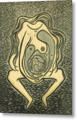 The Weight Of Motherhood Metal Print