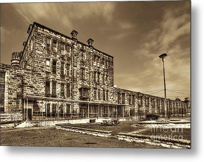The West Virginia State Penitentiary Backside Metal Print by Dan Friend