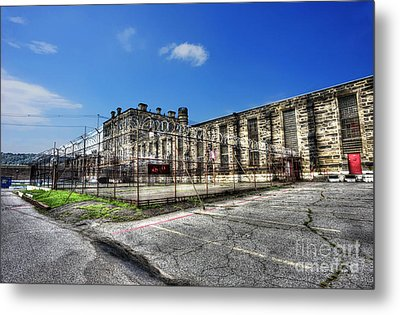 The West Virginia State Penitentiary Courtyard Outside Metal Print by Dan Friend