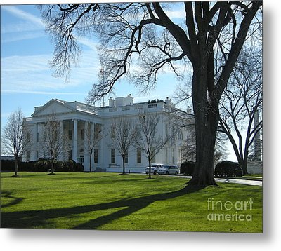 Metal Print featuring the photograph The White House by Victoria Lakes