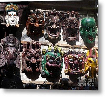 The White Mask Metal Print by Louise Peardon