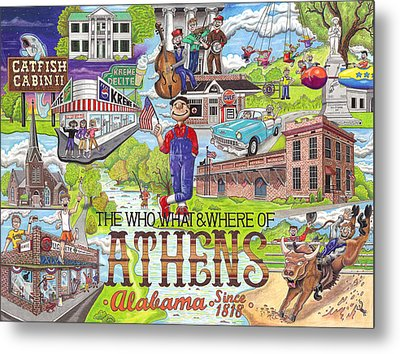 The Who What And Where Of Athens Alabama Metal Print by Shawn Doughty