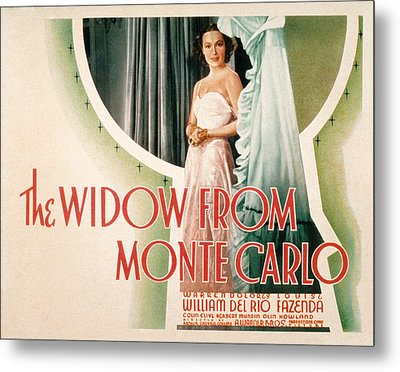 The Widow From Monte Carlo, Dolores Del Metal Print by Everett